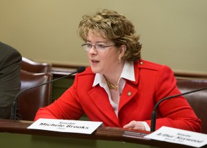 Senator Michele Brooks, Chairman of the Senate Aging and Youth Committee asking questions of Acting Secretary Teresa Osborne during Secretary Osborne's confirmation hearing.