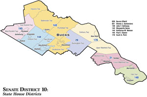 Senate District 10 State House Districts