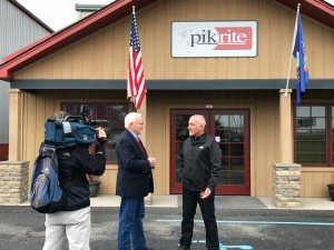 Senator Yaw joins Pik Rite Co-Founder & President Elvin Stoltzfus at the Union County facility.